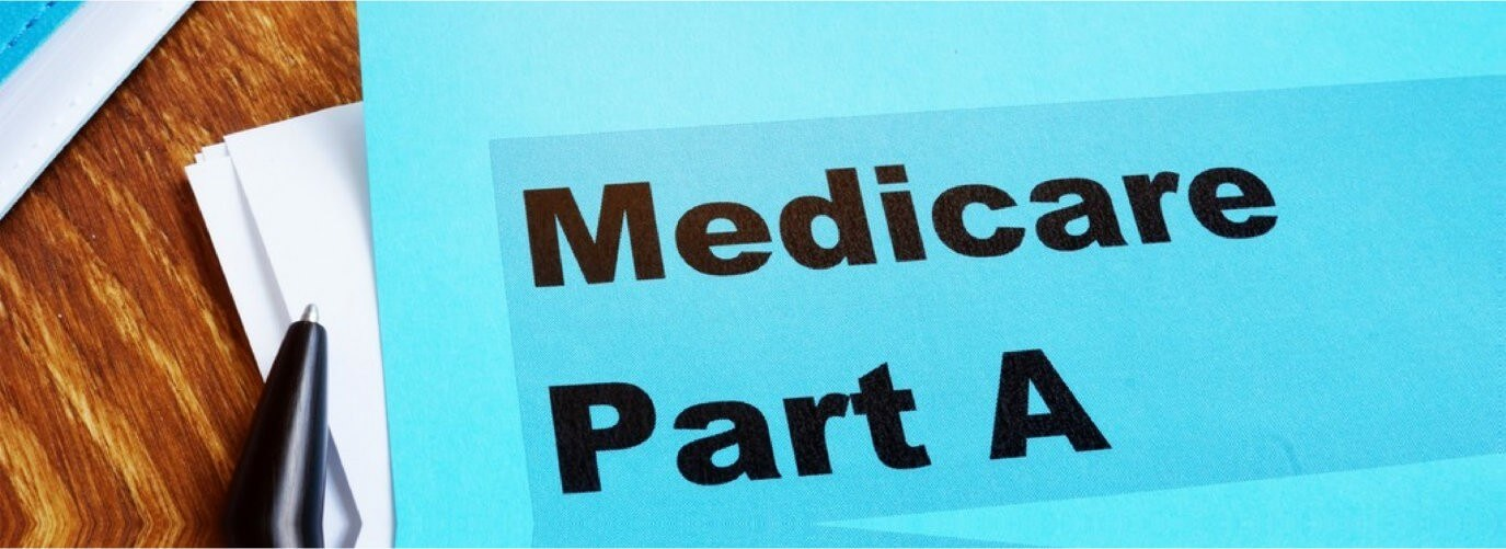 Medicare Part A documents with a stethoscope